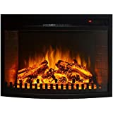 Gibson Living Room Decor 28  Curved Ventless Electric Space Heater Built-in Recessed Firebox Fireplace Insert