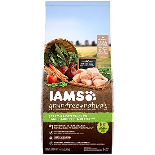 IAMS GRAIN-FREE NATURALS Adult Chicken and Pea Recipe Dry Dog Food 4.4 Pounds