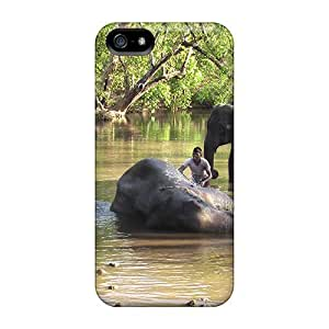 Hot Design Premium FWeMbey8665maKly Tpu Case Cover Iphone 5/5s Protection Case(elephants Bath 2)