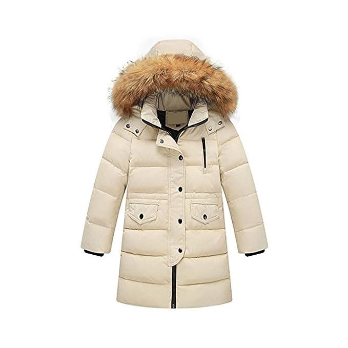 0a5ea8eee OCHENTA Kids Girls Boys Girls Winter Ruffle Hood Padded Down Coat ...