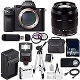 Sony Alpha a7R II Mirrorless Digital Camera (International Model no Warranty) + Sony E-Mount SEL 1855 18-55mm Zoom Lens (Black) + 49mm 3 Piece Filter Kit 6AVE Bundle 20