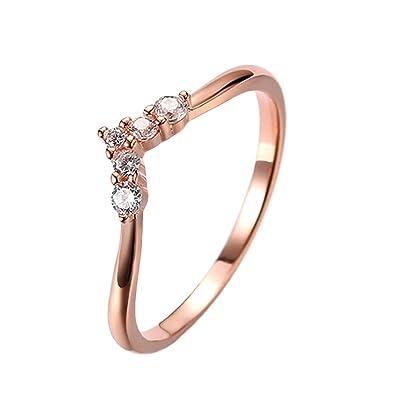 Funnyrunstore Trendy 925 Sterling Silver Ladies Rings Anillos de Boda con Forma de Cono Elagant Party Jewelry Accessories Finger Anillos (tamaño 7): ...