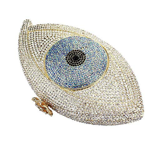 Sac Chaîne À pochette Bandoulière Soirée Pochette Bourse Strass Main Asdflina Eyed Crystal Mariage Femme Mini Big WCAqwxC4vg