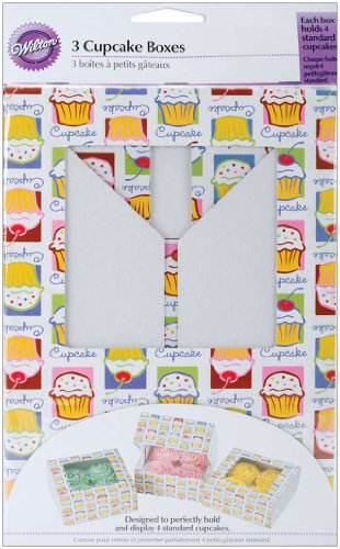 Wilton Cupcake Boxes-4 Cavity Cupcake Heaven 3/Pkg