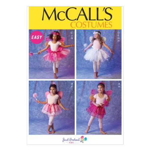 McCall Pattern Company M6906 Children's/Girls' Costumes Sewing Template, Size CDD (M Template For M&m Costume)