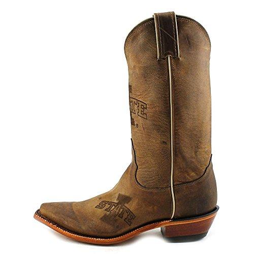 Nocona Mujeres Ldisu11 Iowa State University Collegiate Laser Branded Botas-brown Brown