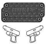 6. GUNHOLD Gun Magnet - Magnetic Gun Mount & Car Holster - HQ Rubber Coated 43 lbs Firearm Accessories. Install in Your car, Truck, Wall, Vault, Bedside, Doorway, Desk, Safe