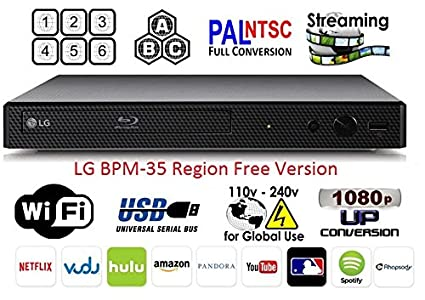 Awesome Amazon Com Lg Bpm 35 Region Free Blu Ray Player Multi Region Smart Wiring Digital Resources Jebrpkbiperorg