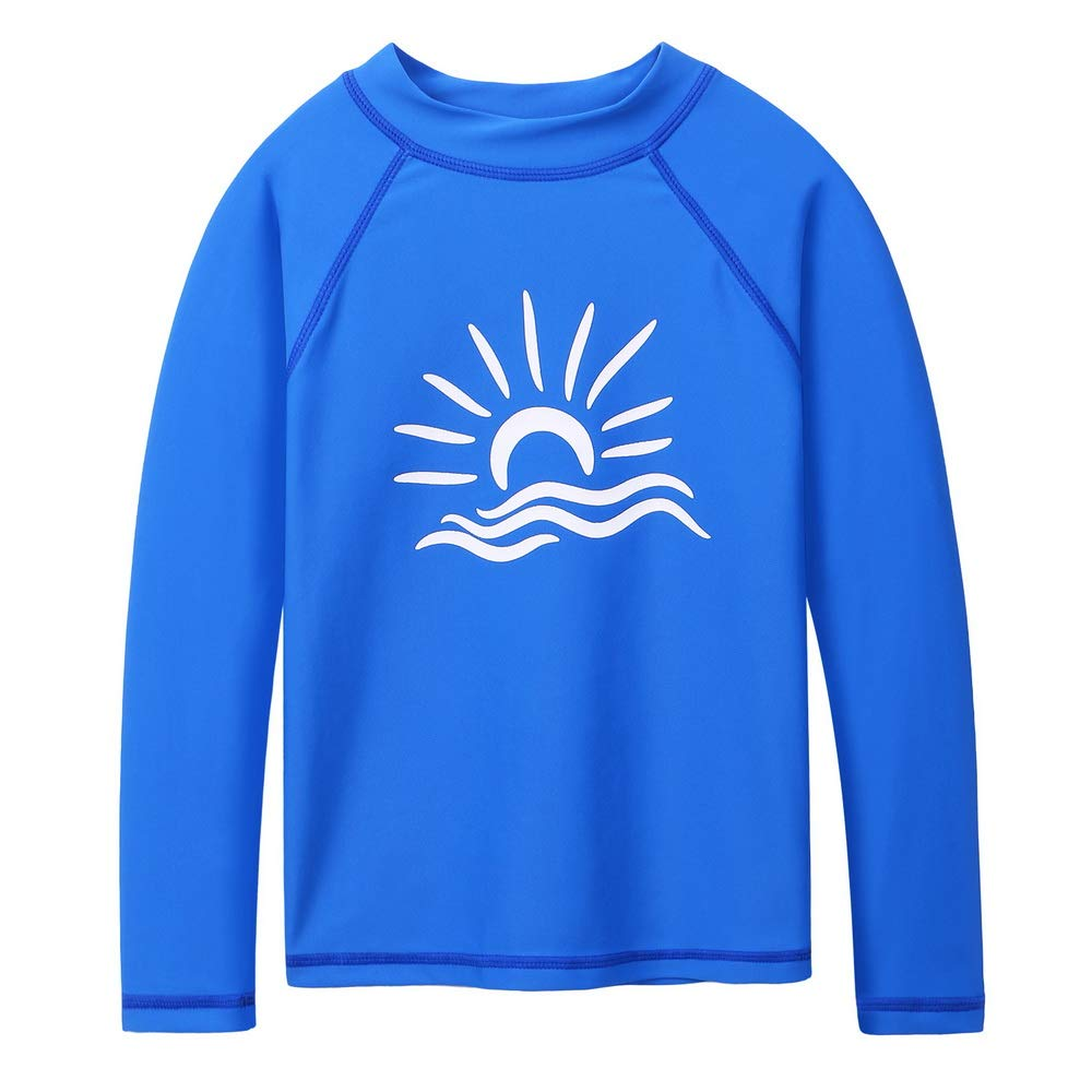 TFJH E Boys Long Sleeve Swim Shirt UPF 50+ Rash