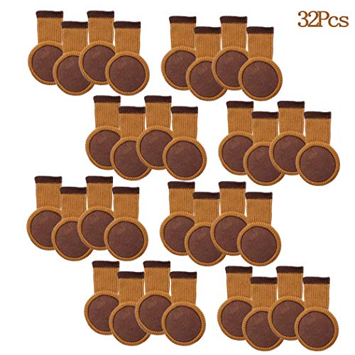 32Pcs Chair Leg Socks with Felt Pads, MERYSAN Elastic Knitted Furniture Booties, Thick Wood Floor Furniture Legs Protectors Pads Covers Caps Set - Avoid Scratches & Noise, Anti-Slip(Brown) (Booties Furniture)