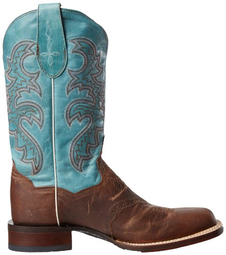 Dan Post Womens San Michelle Western Boot Sand / Blue