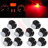 02 escort climate control panel - CCIYU 10 Pack Red T5/T4.7 Neo Wedge 3 SMD A/C Climate Control LED Light Bulbs 12V