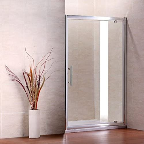 AICA Pivot para mampara de Ducha, Cristal, Cromo Perfil/Clear, Vidrio, Chrome Profile, Clear Glass, 1000mm Width: Amazon.es: Hogar