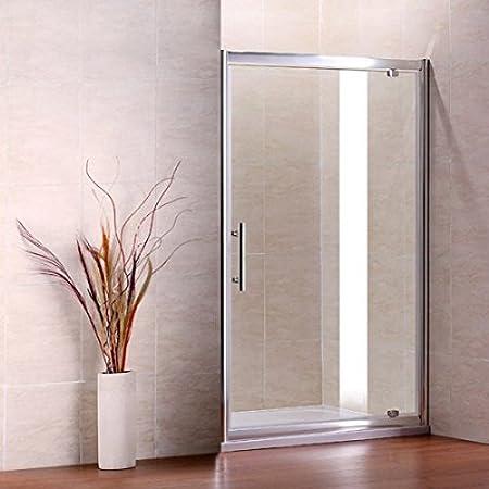 AICA Pivot para mampara de Ducha, Cristal, Cromo Perfil/Clear, Vidrio, Chrome Profile, Clear Glass, 1000mm Width: Amazon.es: Hogar