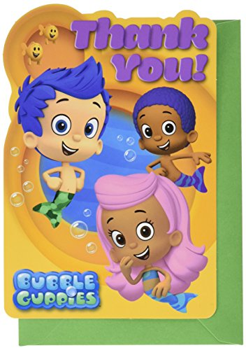 Amscan Postcard Thank You Cards | Bubble Guppies