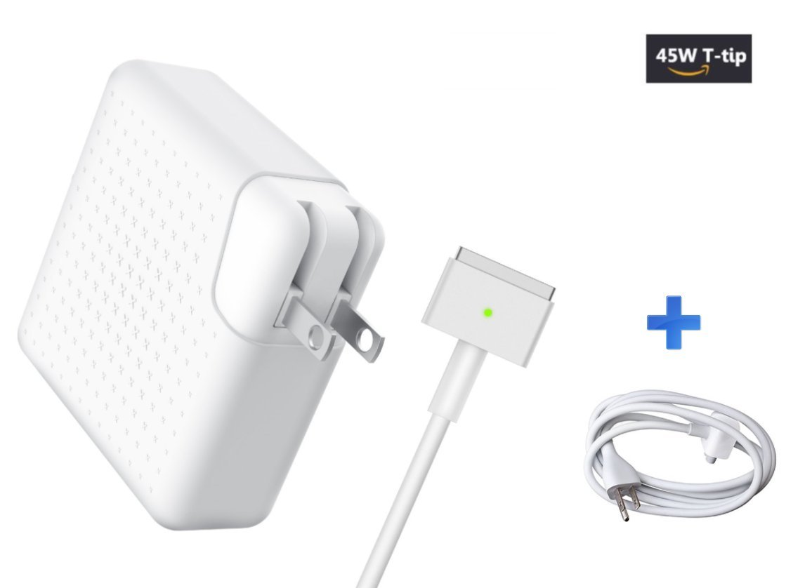 MacBook Air Charger, Access & Gadgets AC 45w Magsafe2 ( T-Tip ) Connector Power Adapter Charger With Extension Cord for Air 11-inch and 13 inch ( For Air Released after Mid 2012 )
