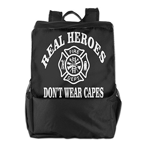 Real Heroes Don't Wear CapesUnisex BackpackCooltravel Bag Design Personality Ourdoor (Do Firefighters Have Badges)