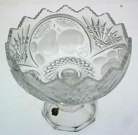 Vintage Beyer lead crystal fruit pattern large fruit bowl on ...
