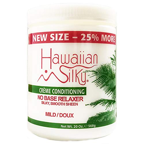 Hawaiian Silky Hawaiian silky no base mild relaxer 20 ounce, White, 20 Ounce