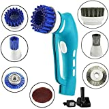 Electric Scrubber Power Cordless, Portable 360 Handheld Washing Cleaning Machine with 7 Replaceable Brush Heads, High Rotation for Bathroom, Floor, Kitchen, Car, Sink, Wall, Window.
