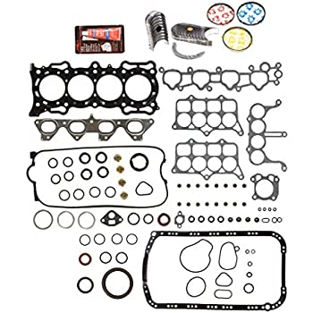 0.010 Oversize Main Rod Bearings Evergreen Engine Rering Kit FSBRR4030EVE\0\1\1 Fits 97-01 Honda CR-V 2.0 DOHC B20B4 B20Z2 Full Gasket Set 0.25mm Standard Size Piston Rings