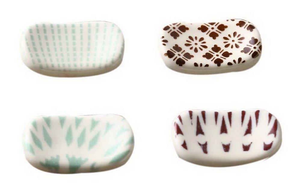PANDA SUPERSTORE Satz von 4 japanischen Keramik Stäbchen Halter ...