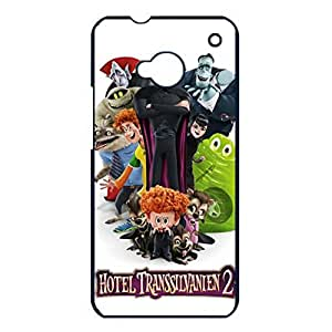 Htc One M7 Phone Case Hotel Transylvania 2 Lovely Poster White Simple Cover