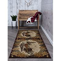 Alise Rugs Alise Natural Brown Lodge Runner (27 x 73)