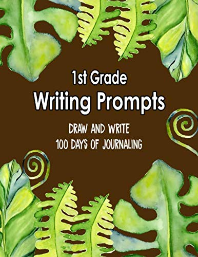 1st Grade Writing Prompts, Draw and Write, 100 Days of Journaling: Topics to Write About, Jungle Classroom Theme (Jungle Scrapbooking)
