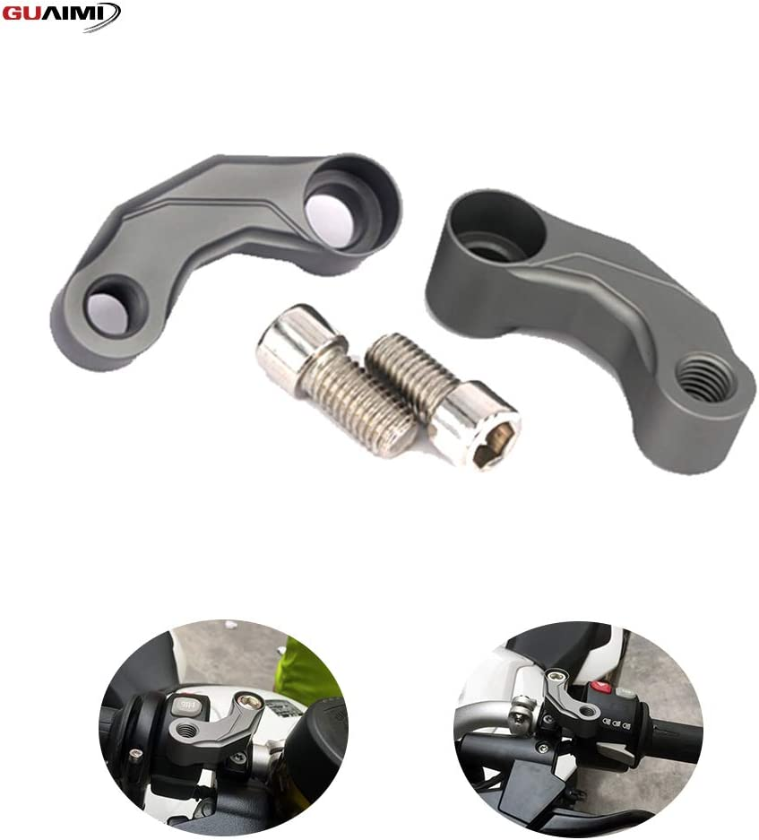 GUAIMI Mirrors Riser Extension Brackets Adapter Black For BMW R1250 GS//ADV//R R1200 GS//ADV//R F850 GS//ADV F800 GS//ADV//RF750GS F700GS F650GS S1000R//XR R nineT HP2 K1200R K1300R
