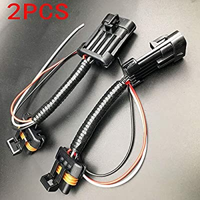 ALLMOST 2PCS For Polaris RZR Tail Light Power Harness Whip Brake Light License Plate 15-18: Automotive