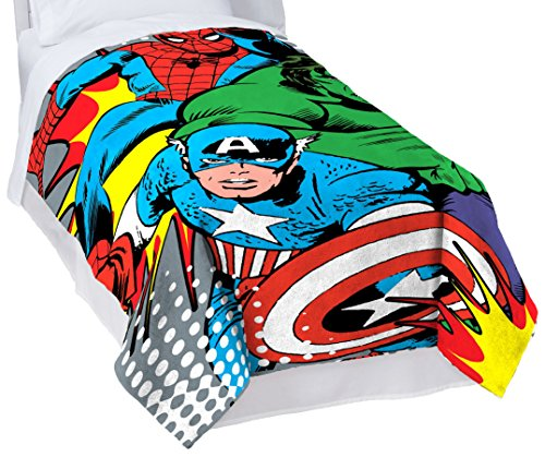 Marvel Comics 'Good Guy' Plush Fleece Blanket, 62'' x 90''/Twin by Marvel