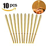 #4: Vzoo All Natural Beeswax Cylinders Candling Cones 100% Non-Toxic Beeswax Candles Lower Smoke - 10 Pack