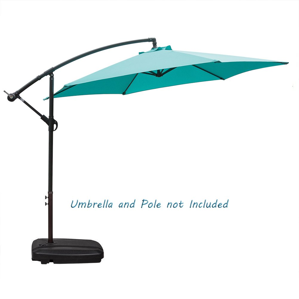 NatureFun Universal Cantilever Patio Umbrella Base HDPE Plastic Weights with Wheels and Cross Steel Fill with Water or Sand 60L by NatureFun (Image #7)