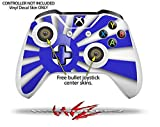 Rising Sun Japanese Flag Blue - Decal Style Skin Set fits XBOX One S Console and 2 Controllers (XBOX SYSTEM SOLD SEPARATELY)