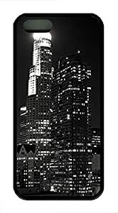 iPhone 5 5S Case Los Angeles City Black And White TPU Custom iPhone 5 5S Case Cover Black