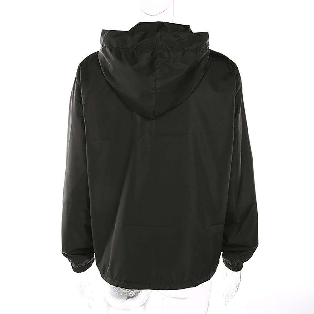 Yuehen Women Oversized Black Digital Applique Sweatshirt Hoodie New Sudaderas Mujer Casual Drawstring Zipper Top Pullovers at Amazon Womens Clothing store: