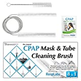 CPAP Mask, Hose Cleaner Brush - The 8 in 1 Brush Tubing Cleaning System Kit Will Fit Your Tube: Clean a ResMed, Phillips Respironics, Fisher Paykel.