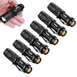 (Pack of 6)Ghaziman Mini Q5 Led Flashlight Torch 300 Lumens 3-speed (Light - Low Light - Strobe)adjustable Focus Zoomable Light