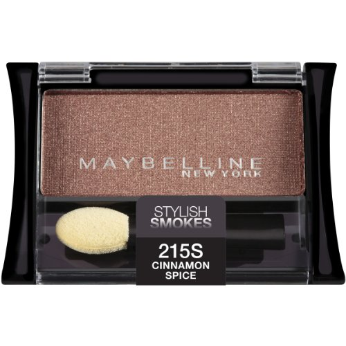 Maybelline New York Expert Wear Eyeshadow Singles, Cinnamon Spice 215s Stylish Smokes, 0.09 Ounce