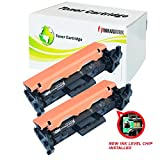 2 Pack INK4WORK [with IC Chip] Replacement For HP CF230A 30A Toner Cartridge LaserJet M203d M203dn M203dw M227d M227dw M227dn M227 printer