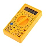 Dt-830B Dt830B, Lcd Ac/Dc Tester Voltmeter Ammeter Ohm Digital Multimeter,Yellow/Black, 5Pcs/Lot