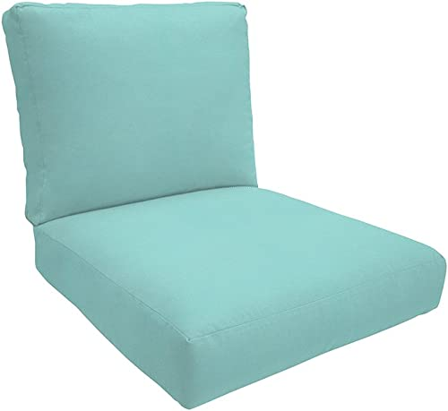 Easy Way Products Knife Edge Sewn Closed Deep Lounge Seating, Canvas, 24 L x 5 W x 26 H, Solid Aruba