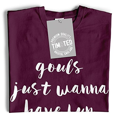 Funny Tim Wanna Have Pun And Shirt T Ted Just Fun White Halloween Gouls EEBw4R
