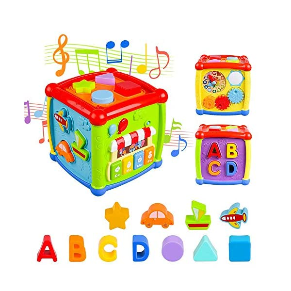 AiTuiTui Cubo attività Bambino, 6-in-1 Multifunzione Giochi Centri Educativi Prima Scatola di apprendimento Infanzia… 1