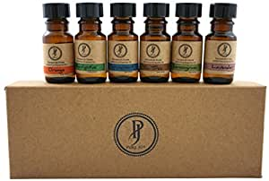Pure Jolly Premium Aromatherapy Essential Oil Kit Top 6 Essential Oils Set 10ml 100% Pure & Therapeutic grade