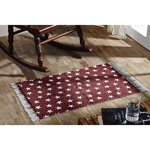 VHC Brands 16045 Multi Star Cotton Rug, 2'3
