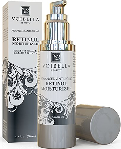 Voibella Advanced Organic Retinol Night Cream & Anti-Aging Moisturizer For Women - Best Natural Anti-Wrinkle, Pore Refining & Brightening Treatment For Face - Shea Butter, Aloe Vera & Green Tea, 1.7oz