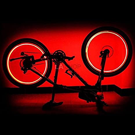 Bicycle Bike Cycling LED Rim Lights Auto Open /& Close Wheel Spoke Light String