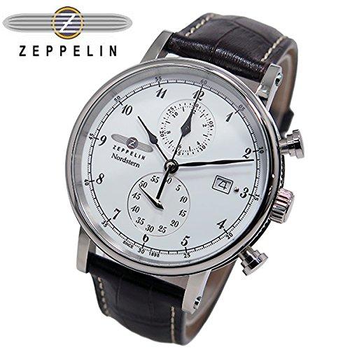 [ツェッペリン] ZEPPELIN 腕時計 7578-1 ノルドスタン クォーツ 41MM レザーベルト [並行輸入品] B0149PMLQW